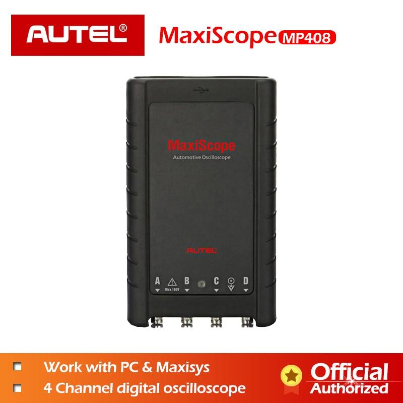 AUTEL MaxiScope MP408 Básico Kit Osciloscópio Automotivo Ler Display Sinais Elétricos 4 Canal PC Maxisys Ferramenta de Diagnóstico