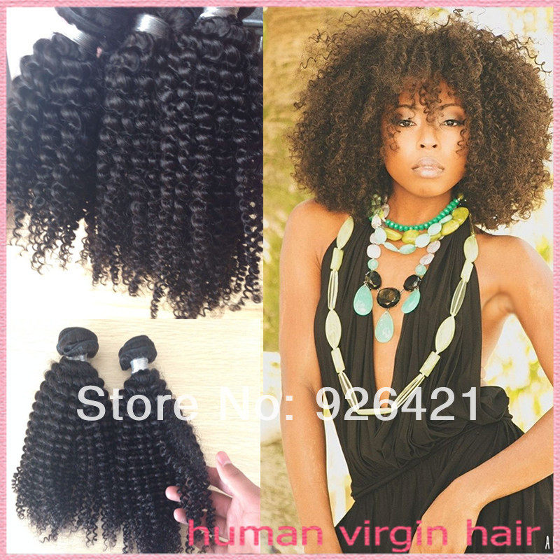Free Shipping Sexy Afro African American Kinky Curly Hair Remy Hair