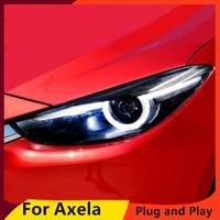 KOWELL Car Styling for Mazda 3 Headlights 2017 New Mazda3 Axela LED Headlight Original DRL Bi Xenon Lens High Low Beam Parking