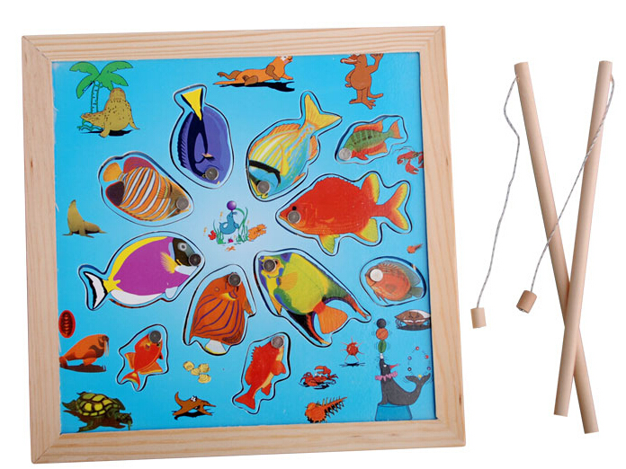 Learning & education magnetic fishing toy comes with fish fishing rods outdoor fun sports fish toy gift for baby/kid W214