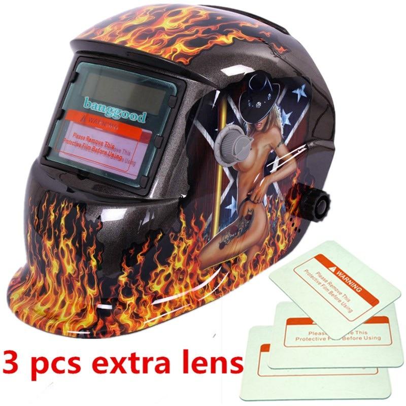 pro Solar Auto Darkening Welding Helmet Arc Tig mig certified mask grinding new km 1600 welding mask arc tig mig weld solar auto darkening helmet