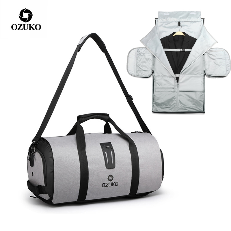 Mens Business Travel Packing Cubes Bag Large Capaity Suit Bags Waterproof Duffle Luggage Bag Weekend Short