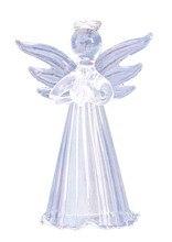 Frete Grátis Para Casa e Jardim Decoração Forma de Anjo De Vidro Decoração Do Ornamento 150mm, 50/Pacote