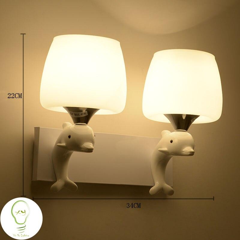Современный настенный светильник дельфин мода творческая арт-деко освещения простой настенные светильники, светодиодные интерьера главная стены комнаты столовая