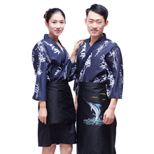 Japanese chef uniform cook suit NEW Japan chef uniform Bamboo pattern Japanese sushi women and man wear chef Servic