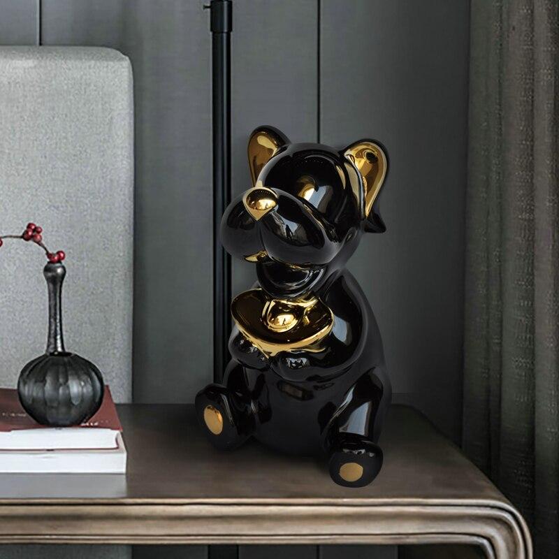 Personalità Creativa di Cane Scarpe a Forma di Lingotto D'oro Imitazione Cute Dog Armadio Soggiorno Ornamento Famiglia Decorativo Artigianato di Ceramica - 4