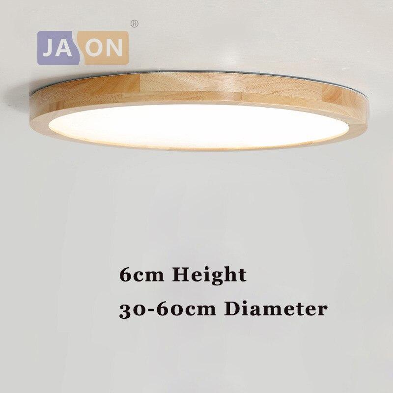 LED Modern Acryl Wood Round 6cm Super Thin LED Lamp LED Light Ceiling Lights LED Ceiling