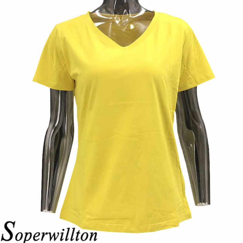 e2706e4c632 Summer Female T-shirts 2018 Fashion New Women's Shirt 18 Colors Plain Women  95%