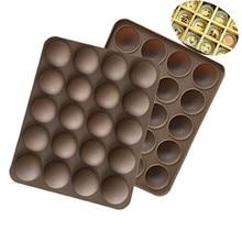 Bolo ferramentas antiaderente silicone 20-meia bola em forma de mini trufas molde para chocolate molde de cozimento trufa sobremesa decoração h560