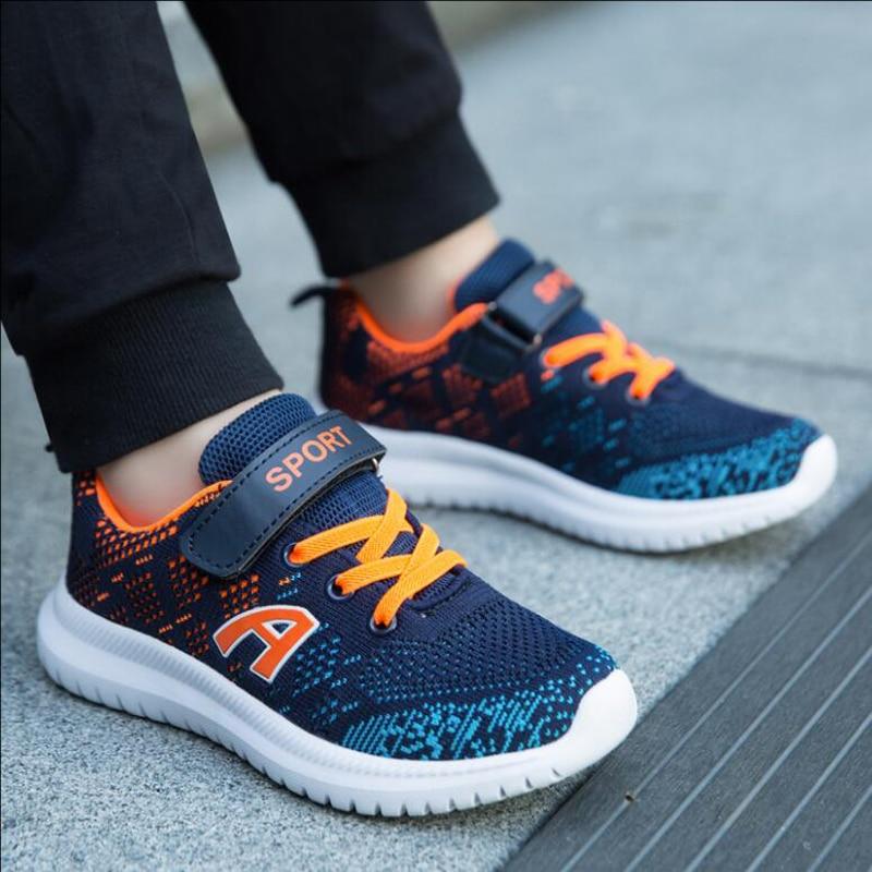 Skhek Children Shoes Kids Boys Girls Sneakers Breathable Running Shoes Mesh Casual Girls Boys Sport Shoe Non Slip Kids Sneakers