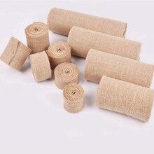 2M/lot 2.5/3/4/6/8/10cm Jute Burlap Ribbon Natural jute Hemp fabric Hessian DIY Wedding Decor Gift wrapping Party Supply