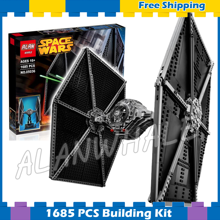 1685pcs Space Wars The Ultimate Collector Universe 05036 Tie Fighter Model Building Blocks Kit Gifts sets Compatible with Lego new 1685pcs lepin 05036 1685pcs star series tie building fighter educational blocks bricks toys compatible with 75095 wars
