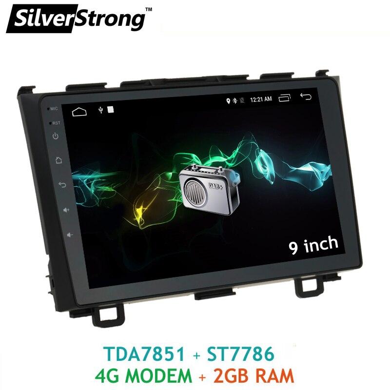 SilverStrong Android6.0 4G SIM Modem De Voiture Lecteur 9 pouces pour Honda CRV 2007-2011 Radio De Voiture Stéréo 4G modem RDS TPMS en option