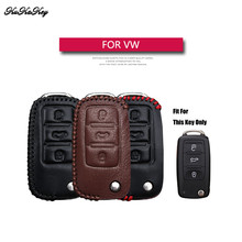 add11570db9c Genuine Leather Flip Folding Car Key Case Cover For Volkswagen Polo Tiguan  Passat Golf MK5 MK6 Key Bag Holder For VW Bora Jetta