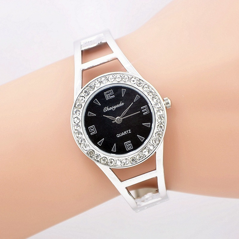 Fashion Luxury Rhinestone Bracelet Women Watch Ladies Quartz Watch Casual Women Wristwatch Relogio Feminino ccq luxury brand vintage leather bracelet watch women ladies dress wristwatch casual quartz watch relogio feminino gift 1821