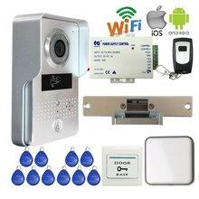 Free Shipping Wireless POE Wifi Doorbell Camera Phone Remote View Unlock Metal RFID Access Video Intercom Strike Lock + Ringer