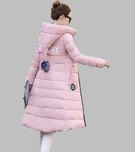 Jacket Women 2016 New 4xl Manteau Winter Coat With Hat Long Jacket Overcoat Casual Plus Size Cotton-padded Snow wear JX007