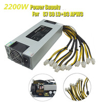 93 PLUS Efficiency 2200W ETH Bitcoin Mining Power Supply For AntMiner A6 A7 L3 R4 S9