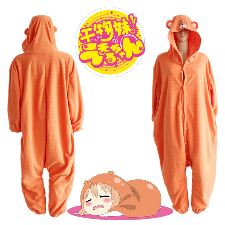 Anime Himouto Umaru-chan Umaru Doma Cosplay Costume Winter Sleepwear Halloween Party Jumpsuit Pajamas Adult Onesie Daily Wear