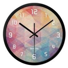 metal wall clock roman numerals classic circular bedroom klokkens de parede retoro vintage wall clock articles