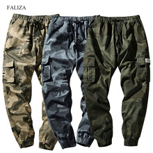 2019 New Mens Joggers Pants Spring Camo Cargo Pants Men Jogger Harem Pants Camouflage Streetwear Pockets Trousers Men 7XL CK115 mens joggers pants men camouflage tactical cargo pants male jogger 2019 new military camo pants male trousers pantalon hombre