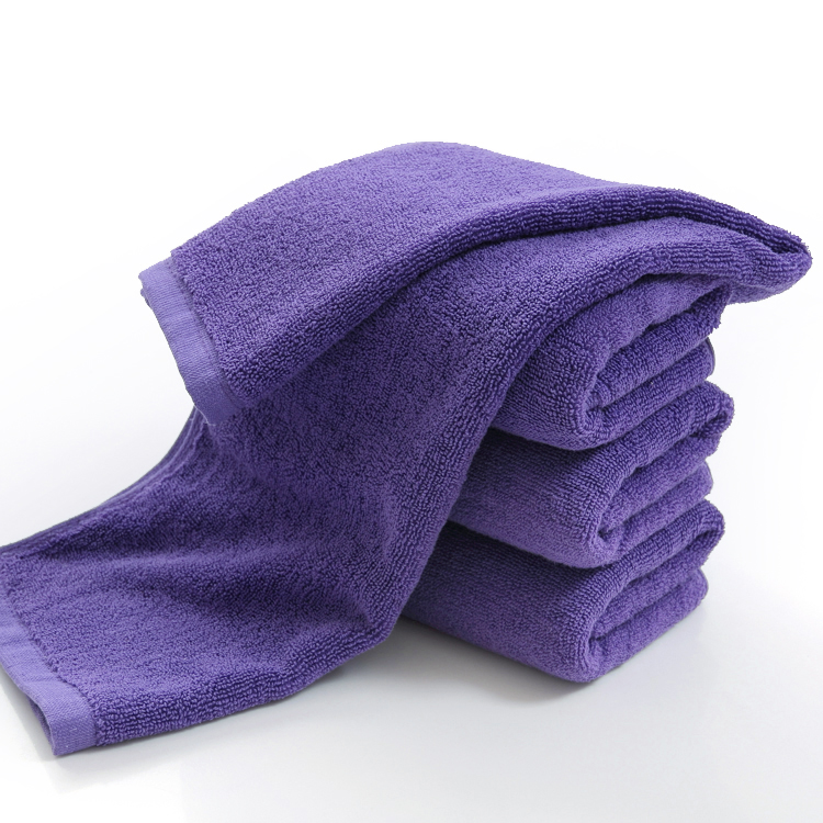 High Quality Large Purple Towel, 100%cotton, 600g, Large