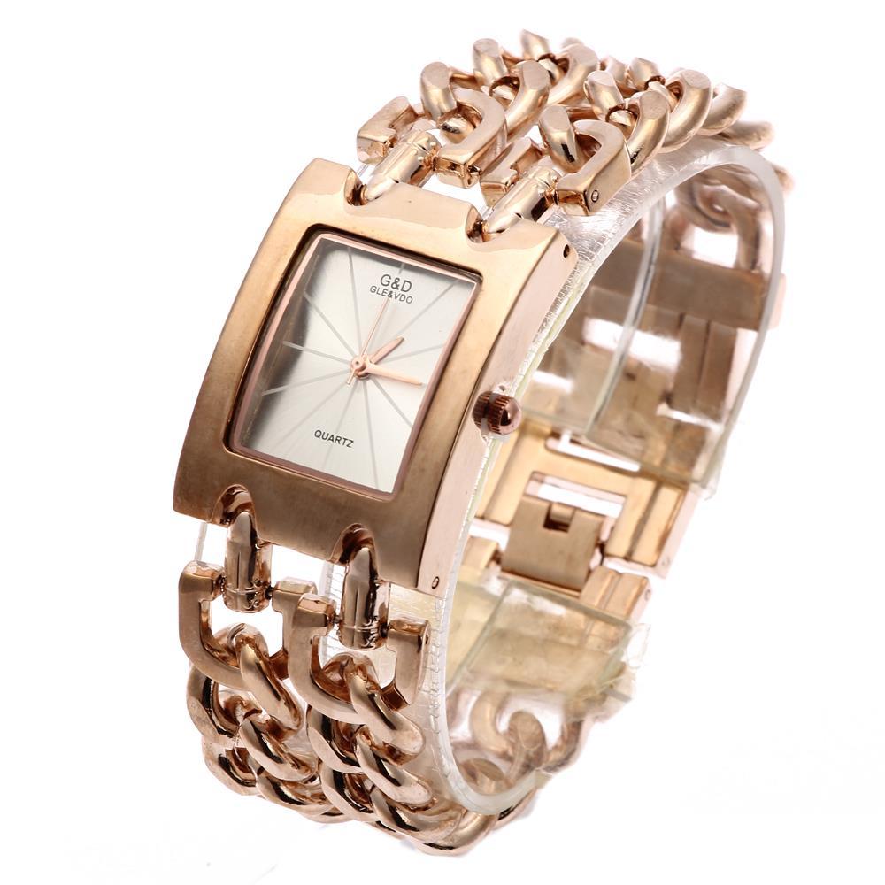 탑 브랜드 럭셔리 G & D 여성 쿼츠 손목 시계 골드 패션 캐쥬얼 여성용 시계 드레스 시계 Reloj Mujer 시계 Relogio Feminino