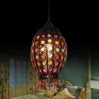Nordic Mermaid pendant light cafe restaurant hotel deluxe office bar lobby entrance lamp Colored fishtail pendant light ZA9152