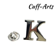 Cuffarts A-Z Letters Lapel Pin 2018 Alphabet Badges Men Jewelry Brooch Pins For Women Or P10018