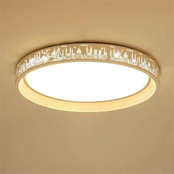 Post Modern LED Ceiling Lamps Round Ceiling Lights Dimmer Switch Bedroom Living Room Restaurant Hotel Lobby Lighting Deco Avize