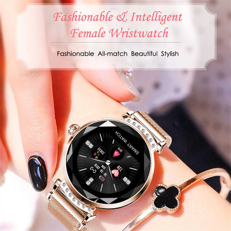 OGEDA 2019 Newest Arrival H2 Fashion Smart Watch Women Lovely Bracelet Heart Rate Monitor Sleep Monitoring connect IOS Android