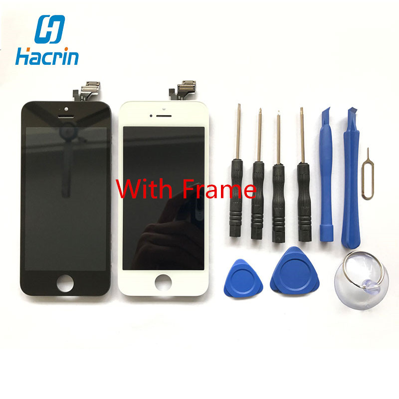 4.5 inch 1130x640 High Quality LCD Display+Touch Screen With Frame Replacement for Apple iPhone 5