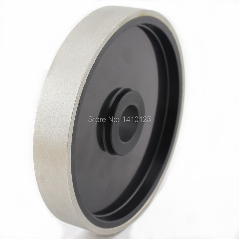 6 inch Grit 2000 Very Fine Lapidary Diamond Coated Cabbing Grinding Wheel Electroplated With Bushing Arbor 1 3/4 5/8 1/2