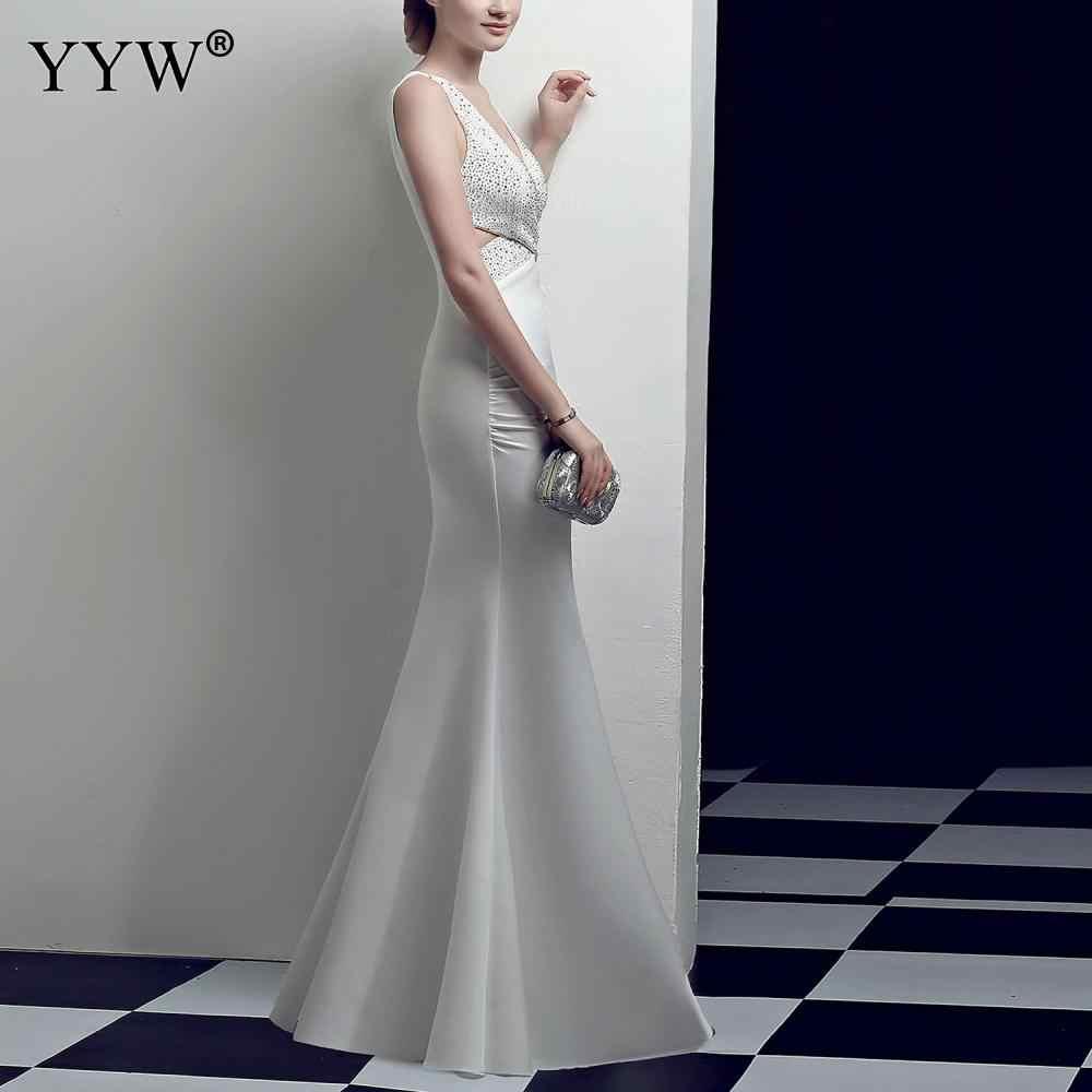 Элегантное женское платье, летнее вечернее платье без рукавов с блестками и v-образным вырезом, модное вечернее платье знаменитостей, вечерние платья