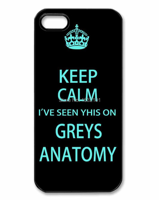 Keep Calm Classic Tv Greys Anatomy Cover Case For Iphone 4 4s 5 5s