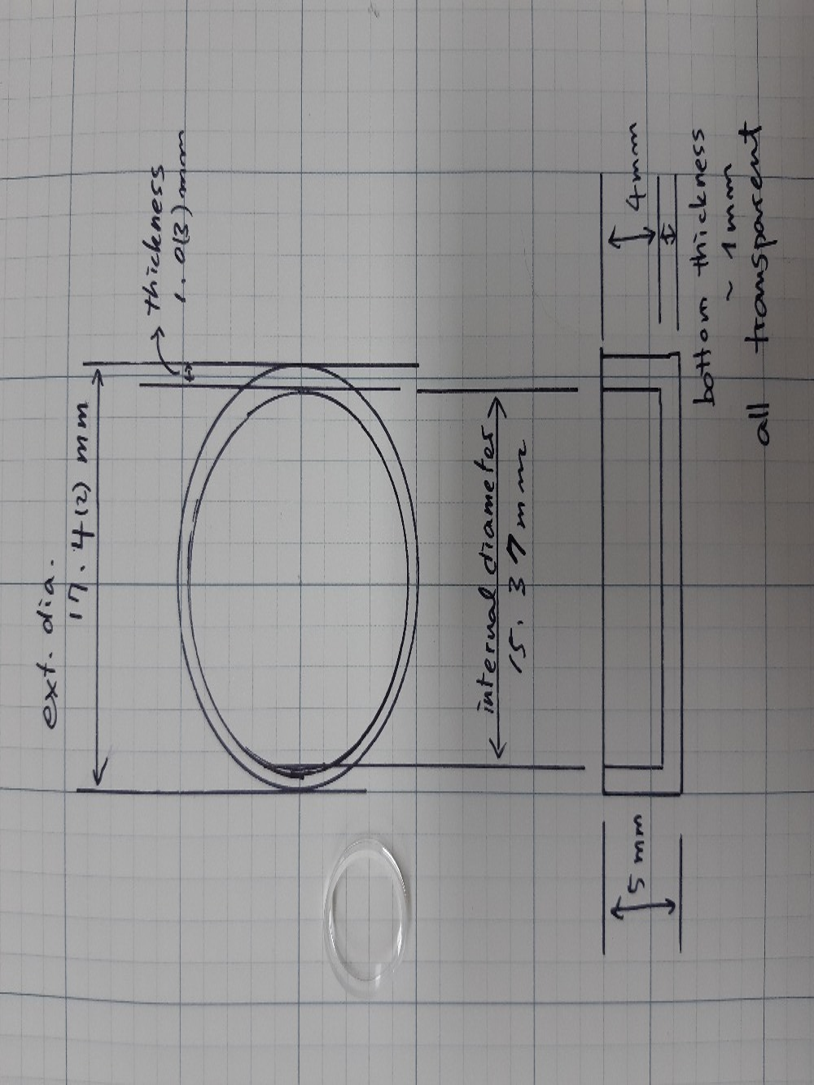 البصرية الكوارتز كوفيت و واضح طبق كوارتز-في أنبوب اختبار من لوازم المكتب واللوازم المدرسية على  مجموعة 1