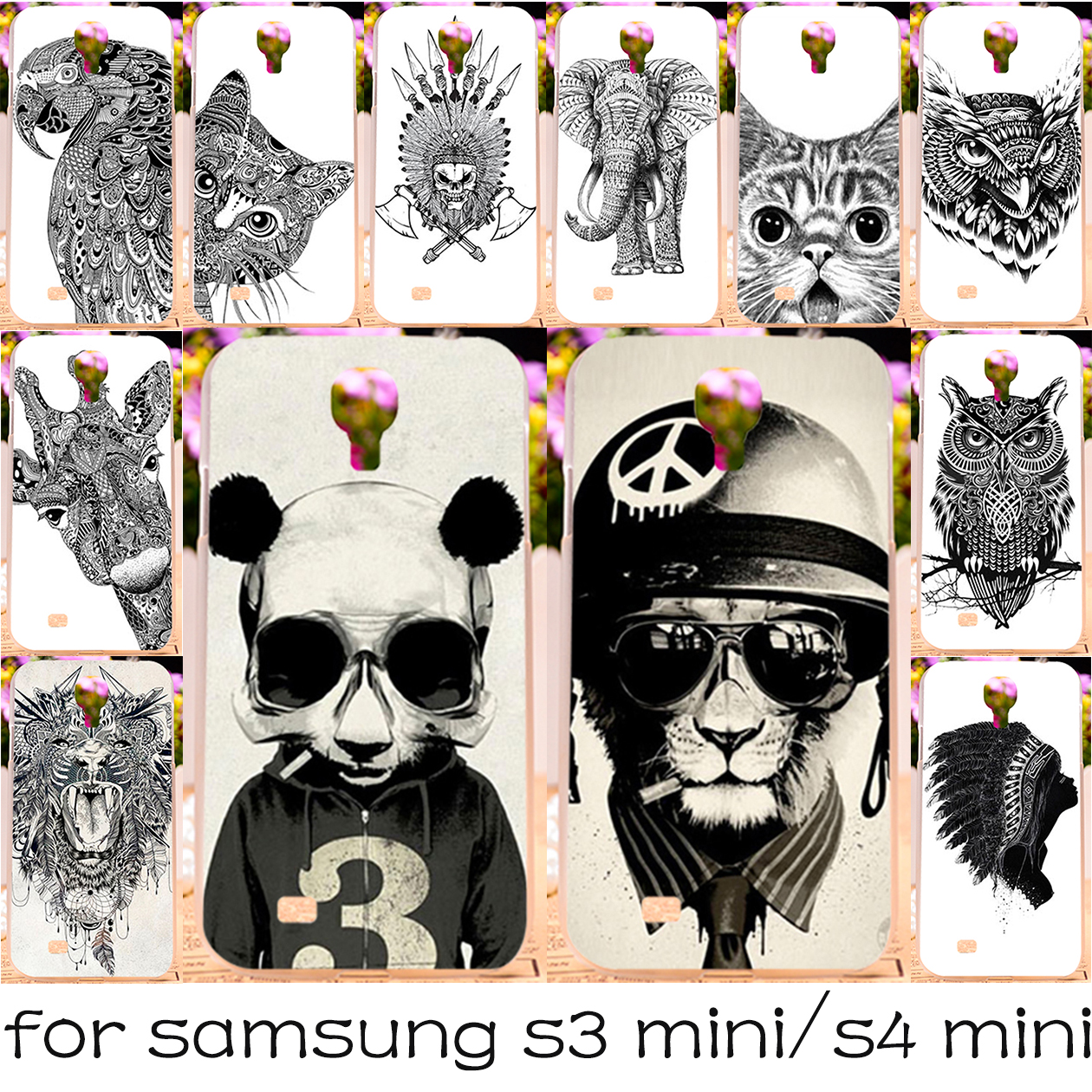 Silicon OR Plastic Phone Case Samsung Galaxy I8190 S3 mini 8190 4.0''/I9190 S4 GA009 GT-i9190 i9192 9190 4.3'' Cover - TAOYUNXI 3C Products Store store