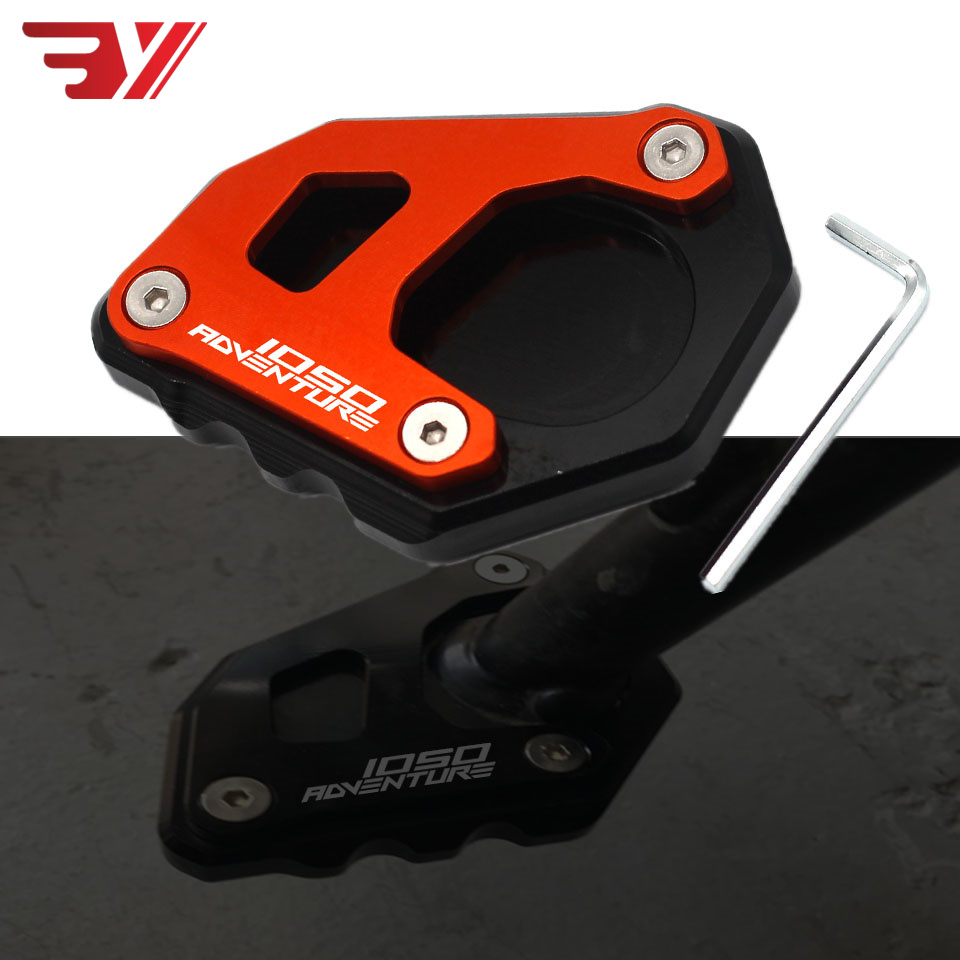 Motorcycle Accessories CNC For KTM Adventure 1290 1050 1090 1190 1290 Adv Kickstand Foot Side Stand Extension Pad Support Plate