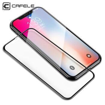 82f2ce11653 Caja protectora CAFELE 4D de vidrio templado para iPhone X XR XS Max Protector  de pantalla para iPhone X XS X XR XS Max HD película de vidrio de cubierta  ...