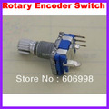 10pcs/lot Rotary Encoder Switch Five Feet Short Handle