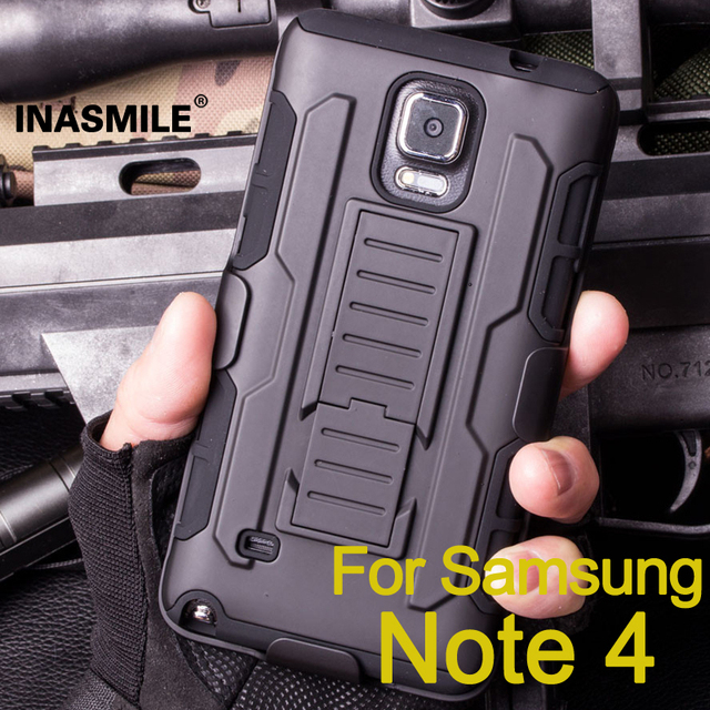 timeless design 32a8d c3b8e US $6.24 |3 in 1 Combo Military Phone Cases for Samsung galaxy note 4 case  Belt Clip Holster Armor for Samsung N9100 Shockproof Hard Case on ...