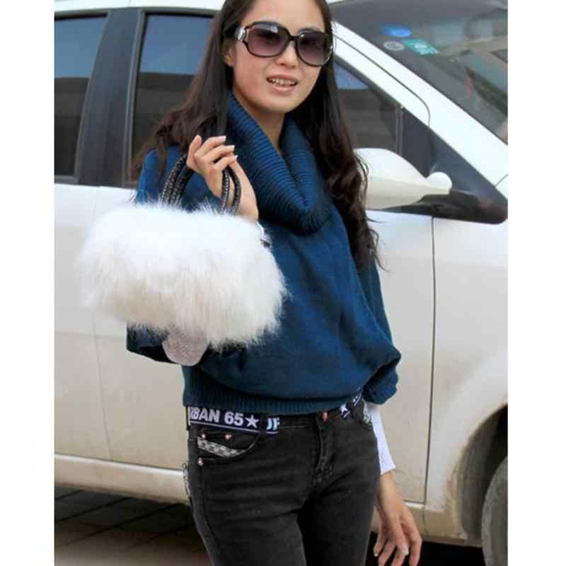 Bolsos de lujo para mujer, bolso de diseñador de piel sintética de conejo, Mini bandolera femenina, bolsos de Invierno para mujer, bolsos de hombro tipo bandolera, Hangbag