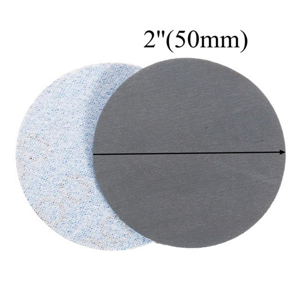 100pcs 50mm Round Grit 1000 Grit Abrasive Sand Discs Sanding Polishing Pad Sandpaper