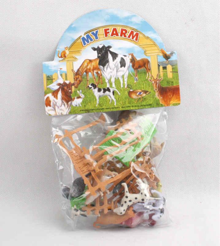 """15 pz/pacco Animali da Fattoria Giocattoli 2 """"mucca Animale cane di pecora oca Famiglia Farm Mangime Per Pollame Recinzione Modello di Simulazione del giocattolo per I Bambini"""