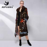 JEPLUDA Natural Real Fur Coat Women luxury European Velvet level Real Mink Fur Coat Winter Real Fur Jacket Women Fur Overcoat
