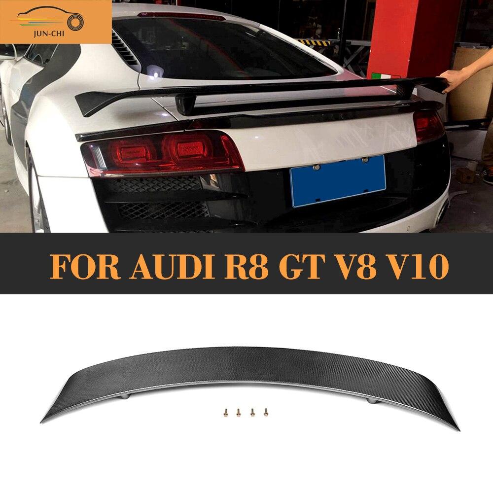 Спойлер на задний багажник из углеродного волокна, крыло для Audi R8 GT V8 V10 2008 2009 2010 2011 2012 2013 2014 Автомобильный задний спойлер