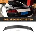 Спойлер на задний багажник из углеродного волокна  крыло для Audi R8 GT V8 V10 2008 2009 2010 2011 2012 2013 2014 Автомобильный задний спойлер