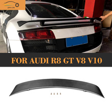 цена на Carbon Fiber Rear Trunk Wing Spoiler for Audi R8 GT V8 V10 2008 2009 2010 2011 2012 2013 2014 Car Tail Lip Wing Spoiler
