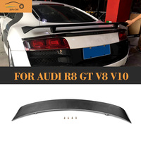 Carbon Fiber Rear Trunk Wing Spoiler for Audi R8 GT V8 V10 2008 2009 2010 2011 2012 2013 2014 Car Tail Lip Wing Spoiler