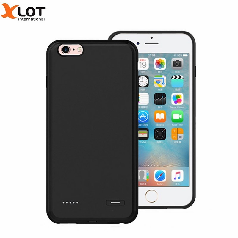 bilder für Ultra dünne stromversorgungsanlagebank fall für iphone 6 6s 6 plus 6 splus phone cases backup pc + silicon batterieabdeckung für iphone 6 Plus